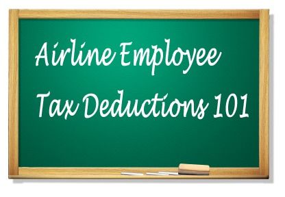 airline tax deductions chalkboard