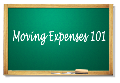 moving expenses chalkboard